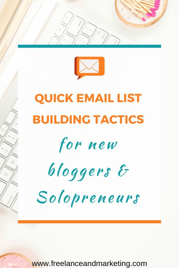 Email list building tactics to quickly build your list as a new blogger or solopreneur. Apply these methods and see an immediate increase in your list. Quick email list building tips with new bloggers and solopreneurs in mind. Learn what tactics work best to build your email list even if you're a complete beginner. Email list building is necessary for your blog or online venture to succeed. #blogging #solopreneur #blogger #emaillist #leadcapture #viralgiveaway #growyouremaillist #emaillistgrowth