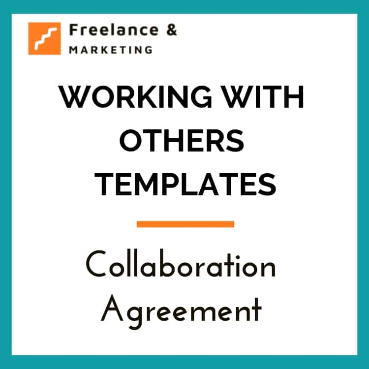 This is a legal agreement template for collaborating with others