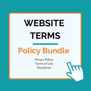 This is a website policy bundle. It includes privacy policy, terms of use, and disclaimer