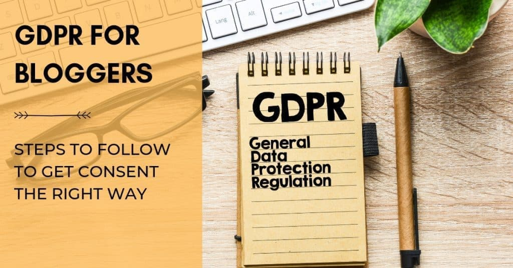 social media graphic for GDPR for Bloggers and how to comply blog post.