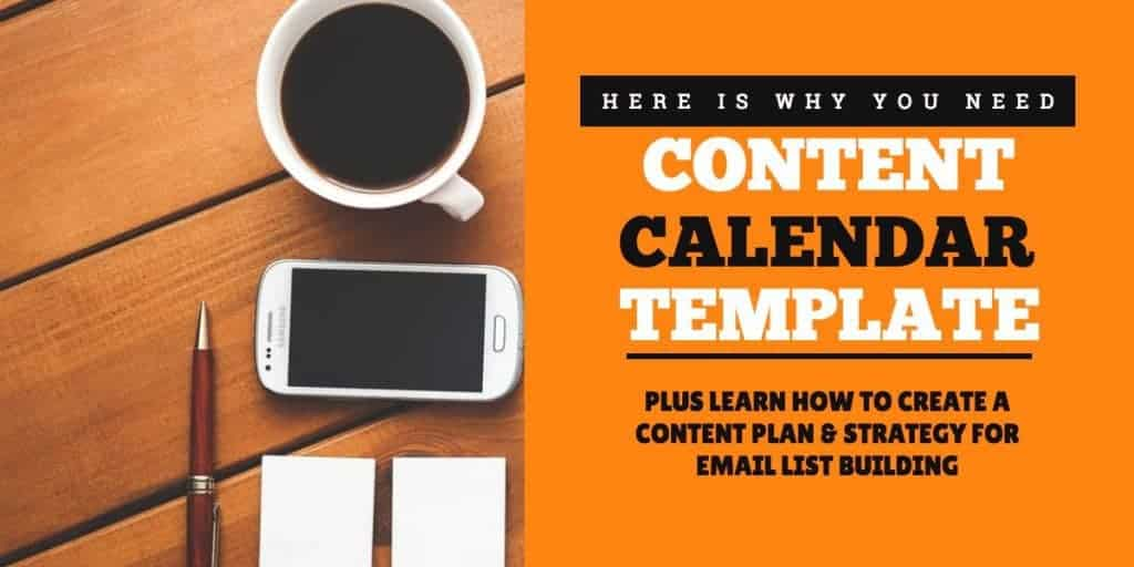 featured image for content calendar template blog post