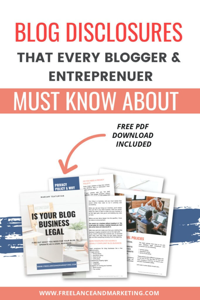 An image of a free pdf download for Is Your Blog Business Legal free resource