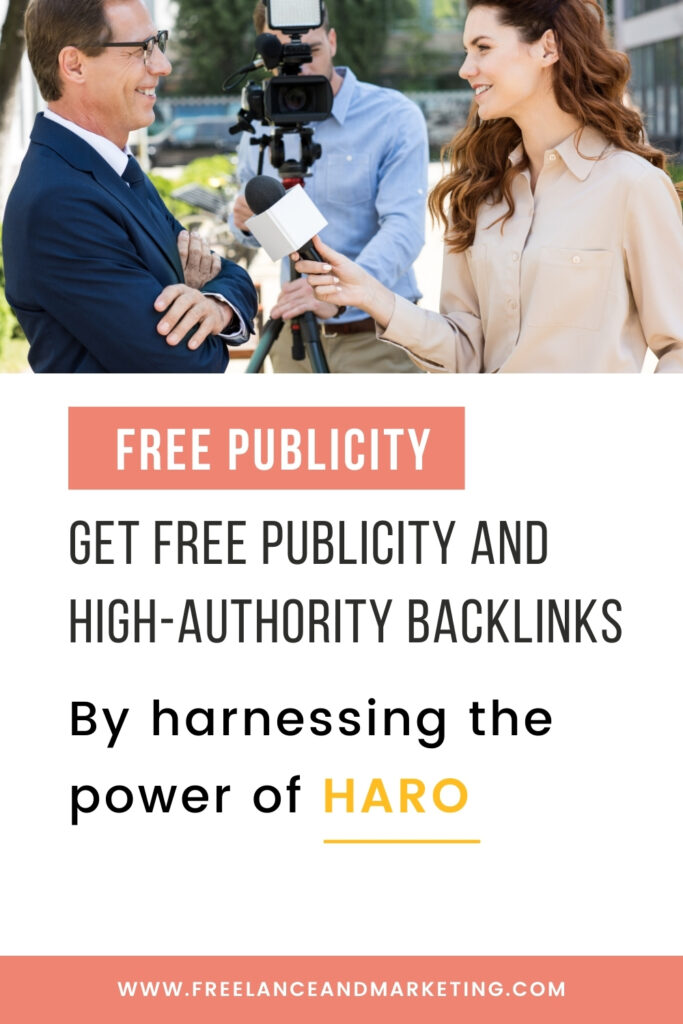 An image of a social media graphic for pitching to HARO